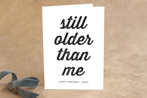 Older than Me Birthday Greeting Cards