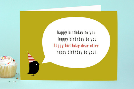Singing Birdie Birthday Greeting Cards