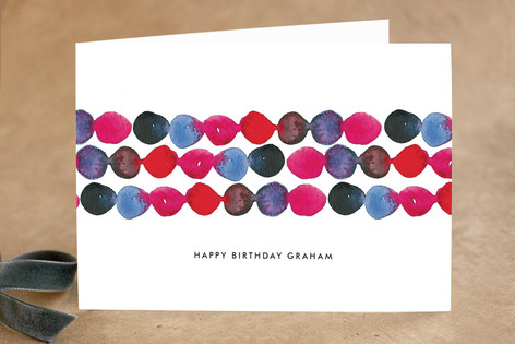 Watercolor Flowing Dots Birthday Greeting Cards