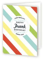Retro Striped Guy's Birthday