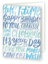 Lettering Birthday
