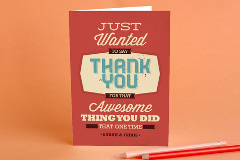Thanks for the Thing Adult Thank You Greeting Cards