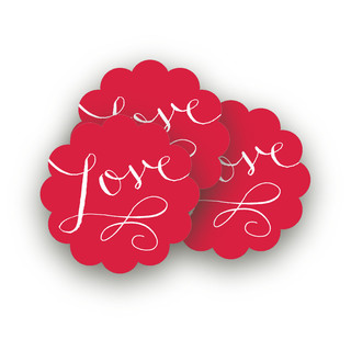 Love Wrap Large Stickers