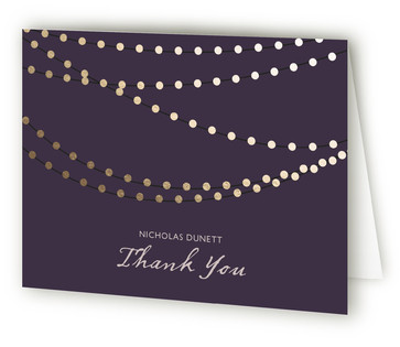 Midnight Vineyard Foil-Pressed Graduation Announcement Thank You Cards