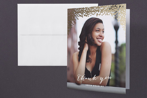 Gold Rush Foil-Pressed Graduation Announcement Thank You Cards