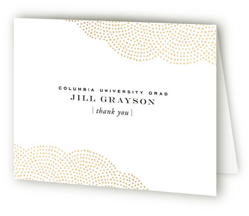 Majestic Foil-Pressed Graduation Announcement Thank You Cards