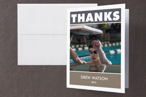 Star Athlete Graduation Thank You Cards