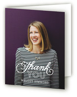 Sophisticated Stack Graduation Thank You Cards