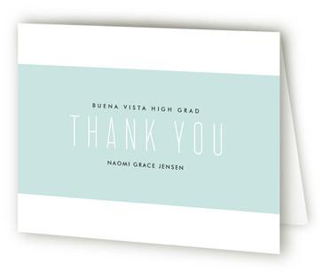 Modern Band Graduation Announcement Thank You Cards