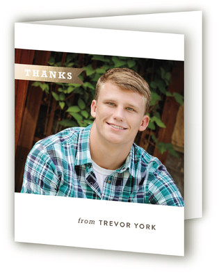 Modern Flag Graduation Announcement Thank You Cards