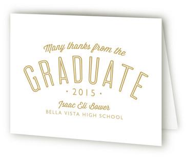 Congrats Graduate Graduation Announcement Thank You Cards