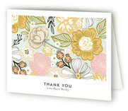 Patterned Snapshot Graduation Thank You Cards
