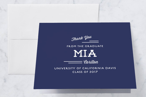 Hipster Graduation Thank You Cards