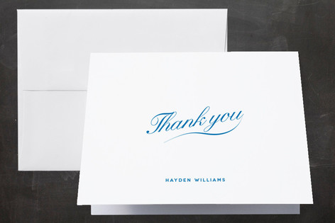 Shaping Up Graduation Thank You Cards