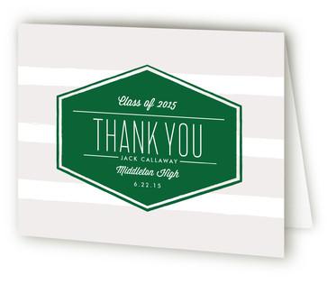 Badge Graduation Announcement Thank You Cards