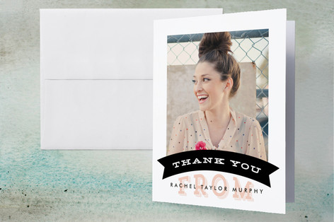 Simple Banner Graduation Thank You Cards