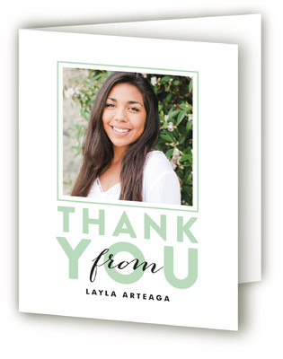Outlined Graduate Graduation Announcement Thank You Cards