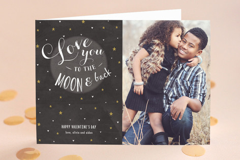 Love you to the Moon and Back Valentine's Day Greeting Cards