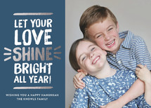 Love Shine Bright Hanukkah Cards