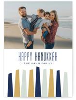 Modern Menorah Hanukkah Cards