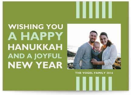 Bold Stripes Hanukkah Cards