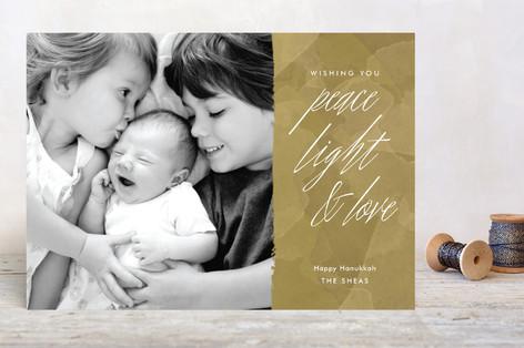 Peace Light Love Hanukkah Cards