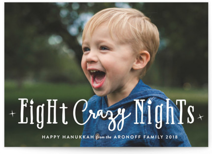 Eight Crazy Nights Hanukkah Cards