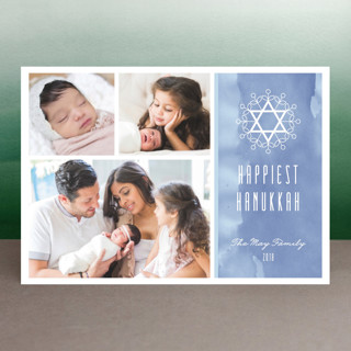 Floral David Star Hanukkah Postcards
