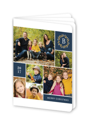 Multiple Photo Monogram Holiday Booklette Card