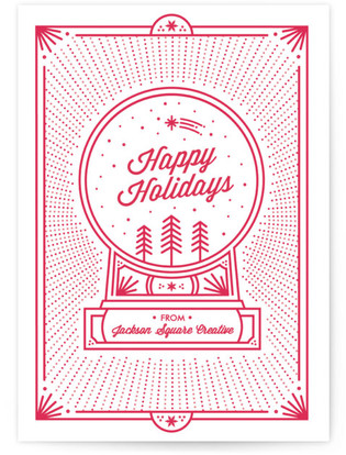 A Globe Greeting Business Holiday Cards