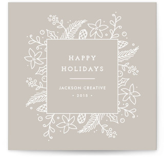 Bountiful Wreath Border Business Holiday Cards