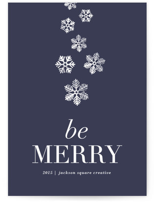 Merry Flurry Business Holiday Cards