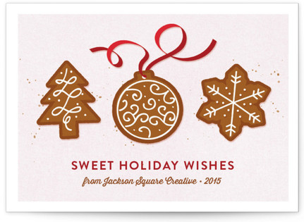 Sweet Holiday Treats Business Holiday Cards