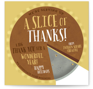 A Slice Of Thanks Business Holiday Cards