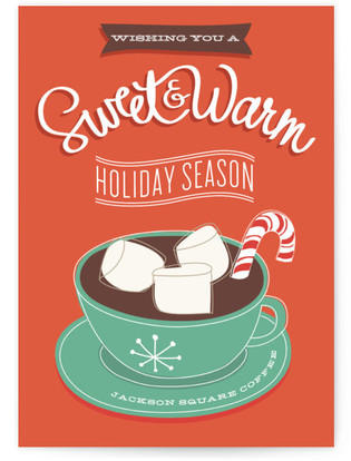 Sweet + Warm Business Holiday Cards
