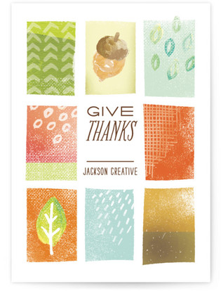 Patchwork Thanks Business Holiday Cards