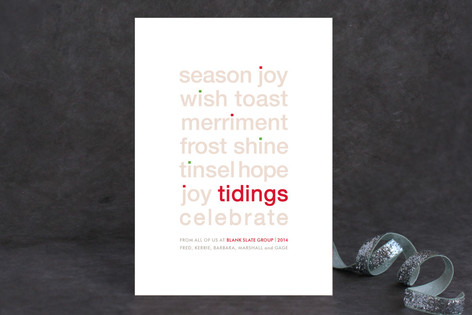 Dotted I Business Holiday Cards