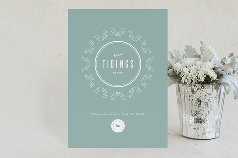 Graphic Greeting Business Holiday Cards