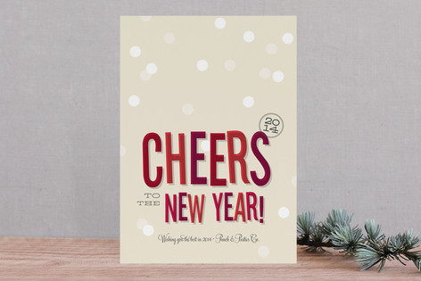 Cheers, New Year! Business Holiday Cards