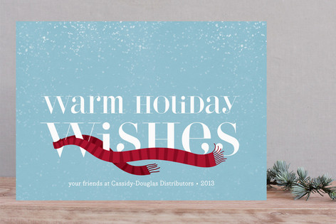 Wrapped in Warmth Business Holiday Cards