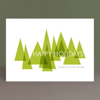 Mod Trees Business Holiday Cards