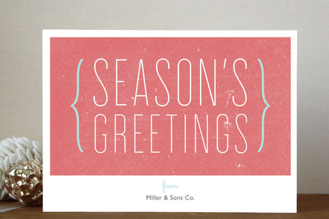 Parenthesis Holiday Greeting Business Holiday Cards