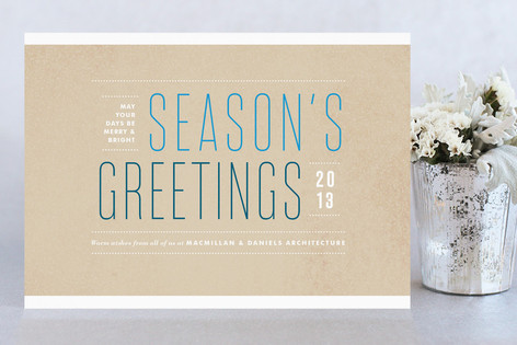Structured Greetings Business Holiday Cards