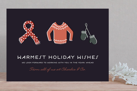 Bundled Tight Business Holiday Cards