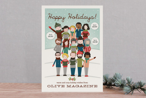 The Gang's All Here! Business Holiday Cards