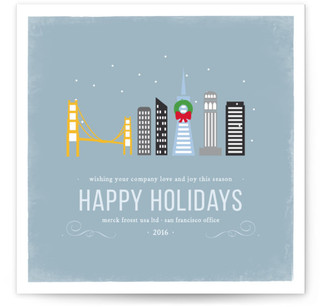 Winter Cityscape - SF Business Holiday Cards