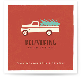 Holiday Delivery Truck Business Holiday Cards
