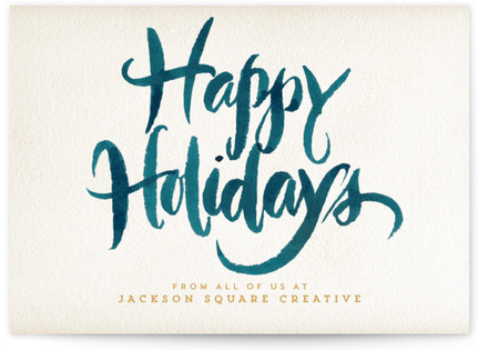Watercolor Holiday Business Holiday Cards