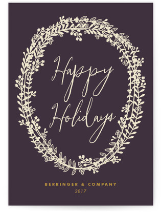 Berry Wreath Business Holiday Cards