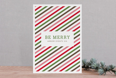 Twisted Peppermint Business Holiday Cards